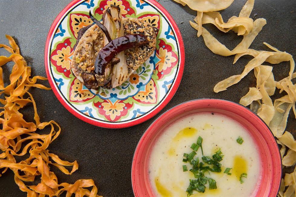 מרק תפוחי אדמה של השף אבי לוי (צילום: אלעד מתתיהו)