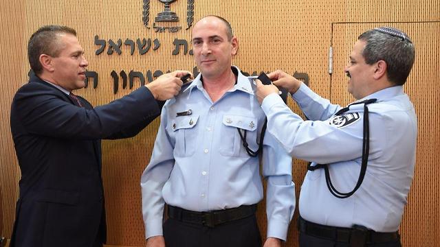 Гилад Эрдан, Игаль Бен-Шалом и Рони Альшейх. Фото: пресс-служба полиции