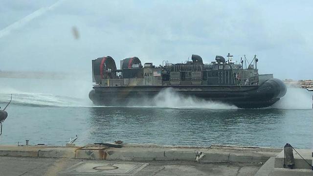 An American naval craft at Haifa seaport (Photo: Port of Haifa)