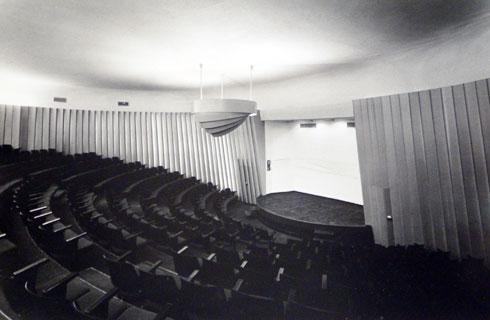 האודיטוריום של מכון ון ליר מבפנים (צילום: דוד רובינגר)