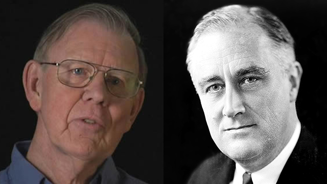 David S. Wyman (L) blasted President Roosevelt for his policy on Jews and the Holocaust (Photo: David S. Wyman Institute for Holocaust Studies)