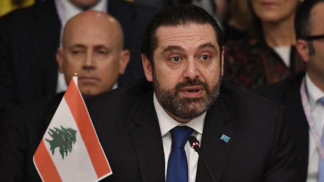 ראש ממשלת לבנון סעד אל-חרירי בביקור ברומא (צילום: AFP)
