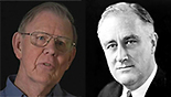 David S. Wyman (L) and President Roosevelt