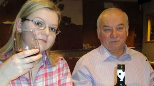 Sergei Skripal (R) and his daughter Yulia. Russia lauded Israel's 'wise position' regarding the pair's poisoning