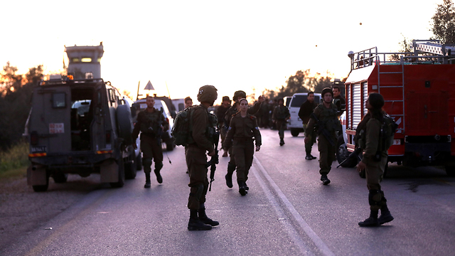 IDF forces on the scene of the attack (Photo: EPA)