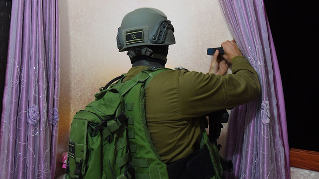 IDF engineering forces mapping terrorist's home ahead of demolition (Photo: IDF Spokesman's Office)