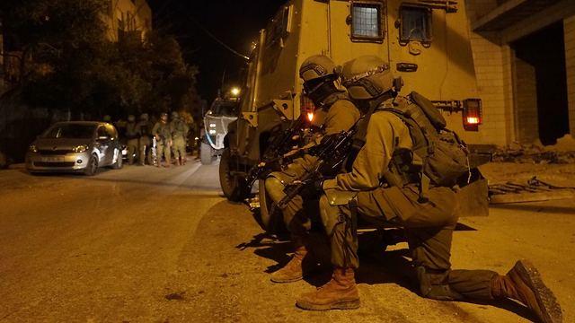 Troops operating in Nablus overnight (Photo: IDF Spokesman's Office)