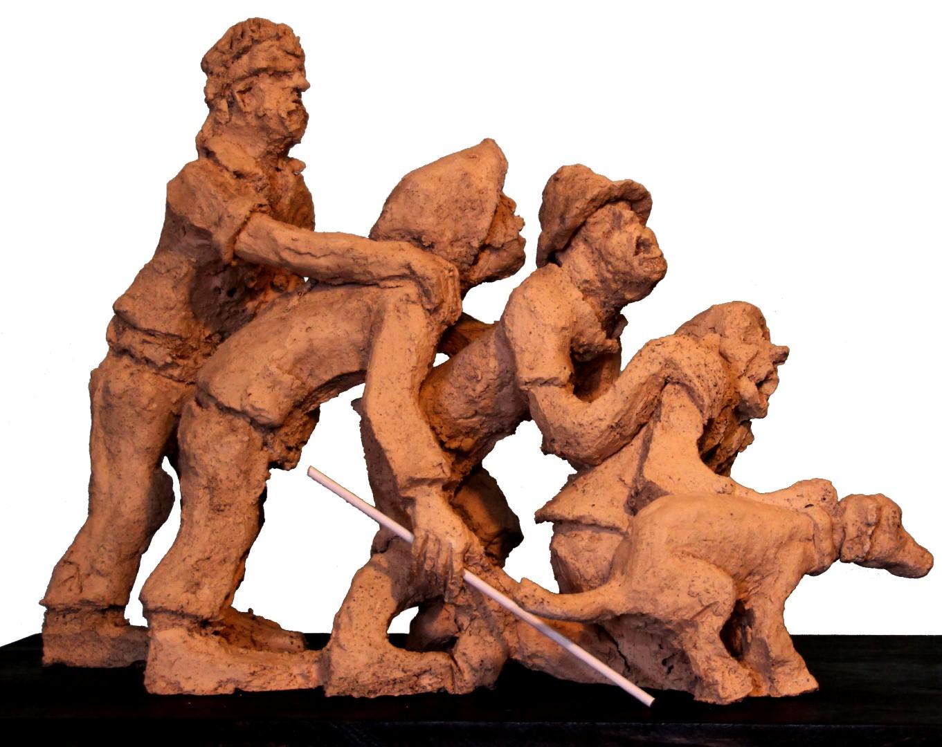 פסל של אלכס גל. שורת השיכורים ( )
