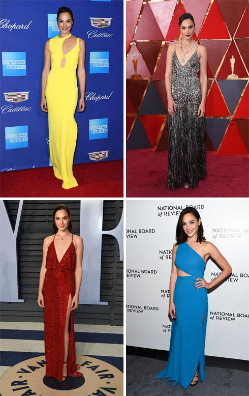 """נדמה כאילו גל גדות היתה מאז ומעולם כוכבת הוליוודית מצליחה. על השטיחים האדומים בחו""""ל (צילום: AP)"""