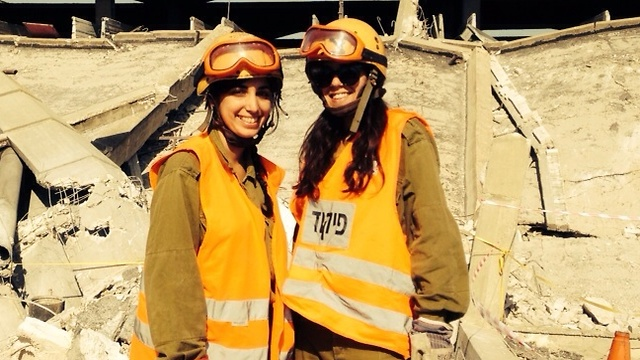 Shani Kuriel (R) in uniform. 'They escaped to stay alive'