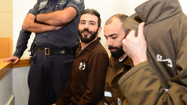 Romain Franck (left) and others suspected in smuggling arms into West Bank. Affair may damage French-Israeli relations, an expert said (Photo: Herzl Yosef)