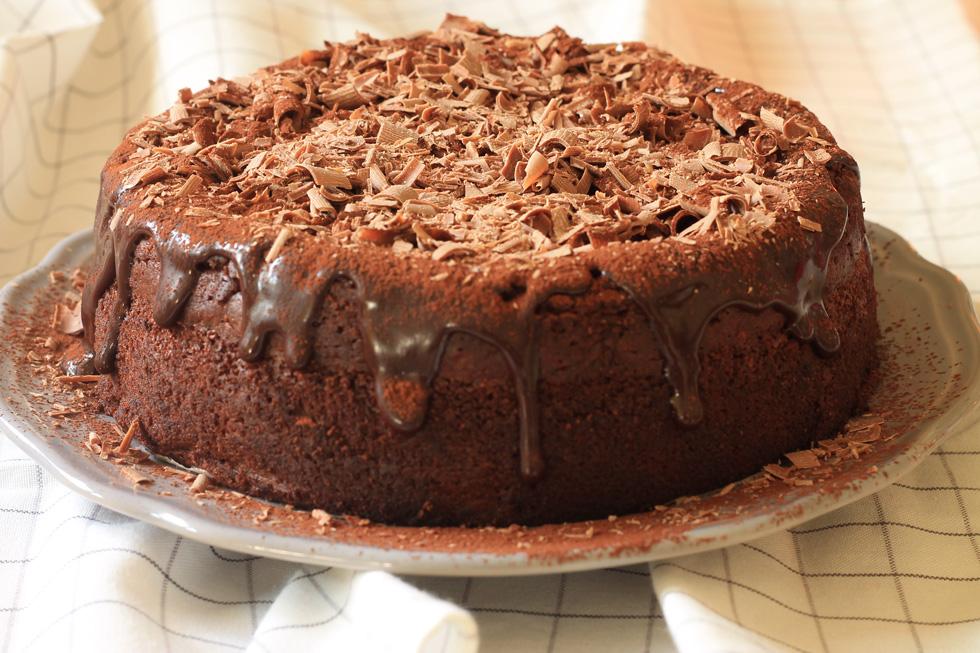 עוגת שוקולד וערמונים לפסח (צילום: אורלי חרמש)
