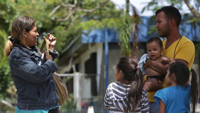פליטים מוונצואלה בצפון ברזיל (צילום: AP)