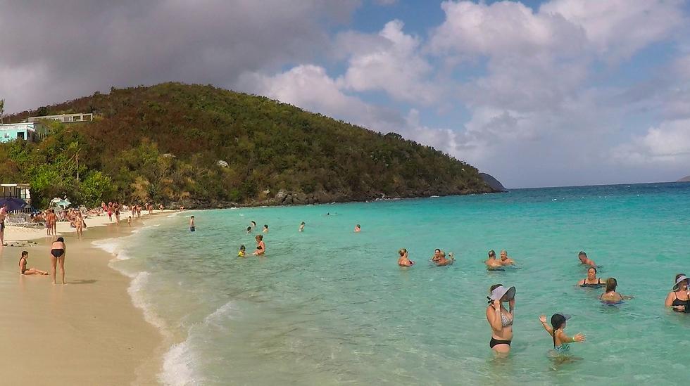 החופים היפים של איי הבתולה האמריקאיים (צילום: אסף קוזין)