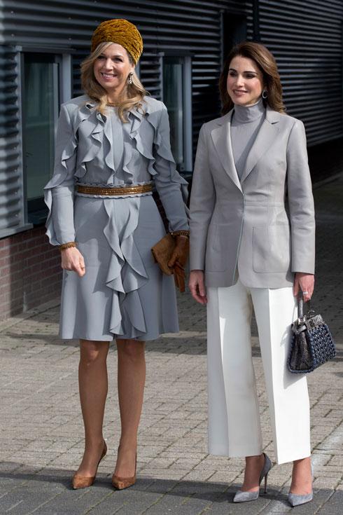 מה לבשו ראניה מלכת ירדן ומקסימה מלכת הולנד למפגש דיפלומטי? לחצו על התמונה לכתבה המלאה (צילום: AP)