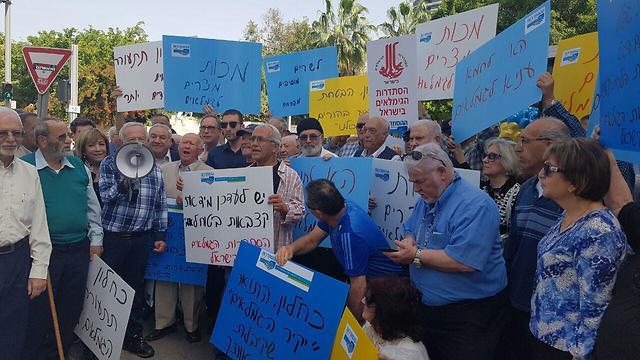 Демонстрация пенсионеров. Фото: Амир Алон (Photo: Amir Alon)