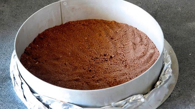עוגת מוס שוקולד עם אפיפיות ללא גלוטן (צילום: נטלי לוין)