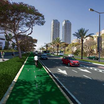 שדרות הרצל, אשדוד. המודל הוא רחוב אבן גבירול בתל־אביב