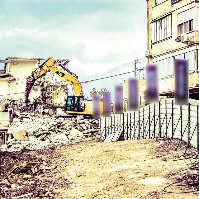 פרשקובסקי בנווה שאנן חיפה, נהרסו 7 בנייני רכבת, 126 דירות ישנות לטובת 10 מגדלים עם 486 דירות חדשות | צילום: מירו מדיה