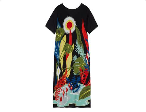 שמלה עם הדפס צבעוני של 5פריוויו, 599 שקל (צילום: שי נייבורג)