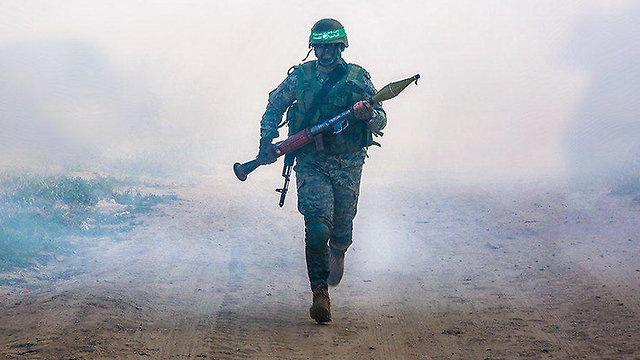 Hamas terrorist during military drill