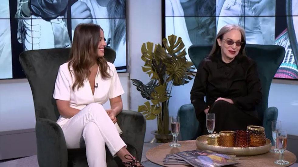 מימין: המעצבת דורין פרנקפורט ואייקון האופנה ירדן הראל באולפן של סטילטו