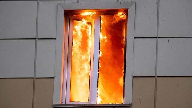 שריפה בקניון ברוסיה (צילום: MCT)