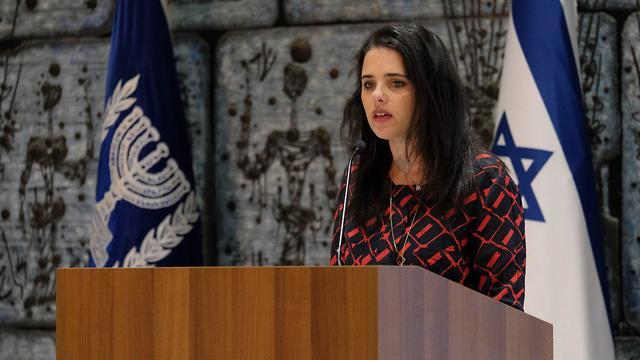 Ministro da Justiça Shaked (Foto: Yoav Dudkevitch)