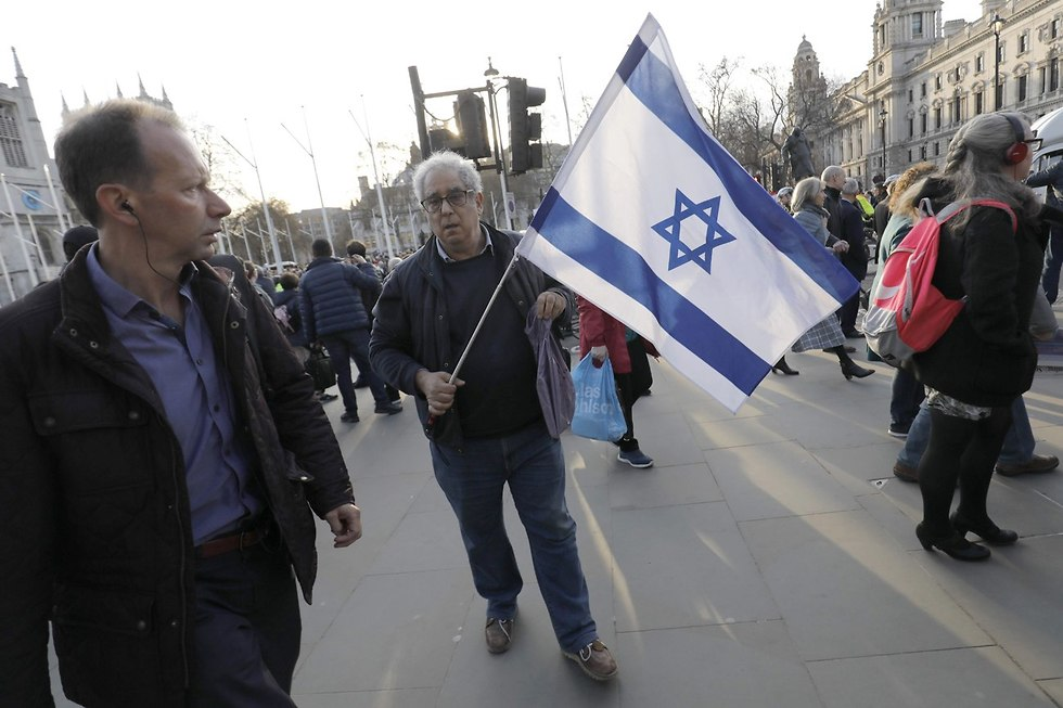 """יהודים מחו נגד הלייבור: """"שנאה אובססיבית לישראל"""" 843205001000100980653no"""
