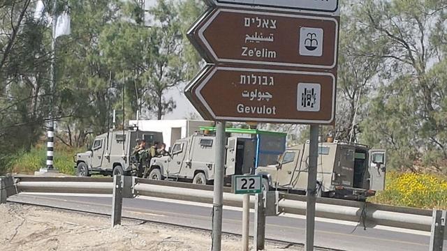 מחסום משטרה צבאית (צילום: בראל אפרים)