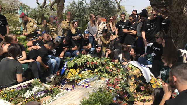 Shachar Strug's funeral in March (Photo: Tomeriko)