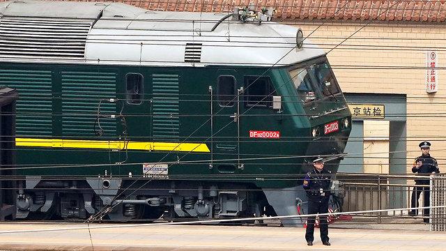 ככל הנראה רכבת של שליט צפון קוריאה קים ג'ונג און ב בייג'ינג סין (צילום: רויטרס)