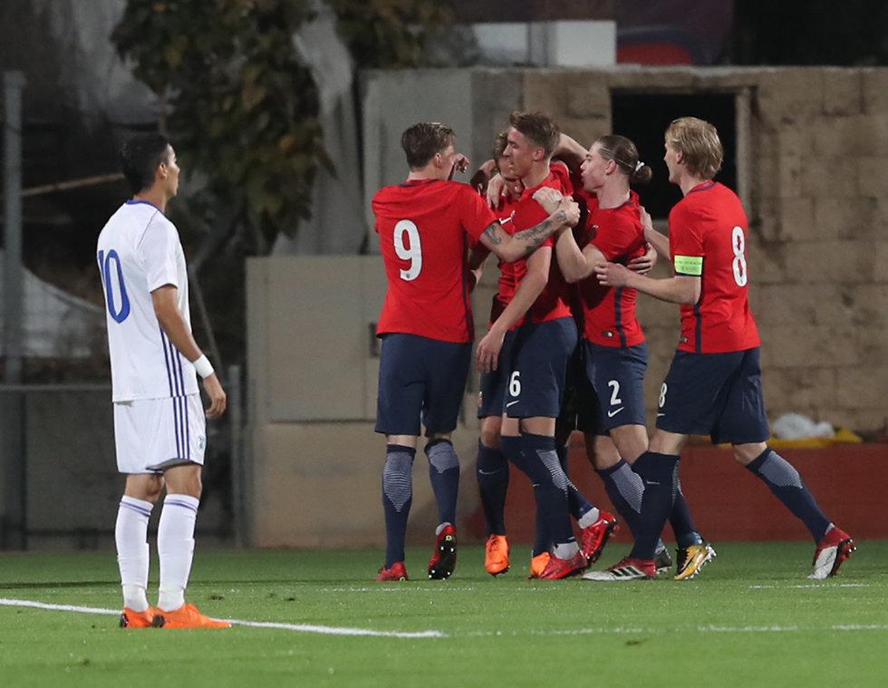 הנבחרת המעירה נבחרת צעירה ישראל נורווגיה (צילום: אורן אהרוני)