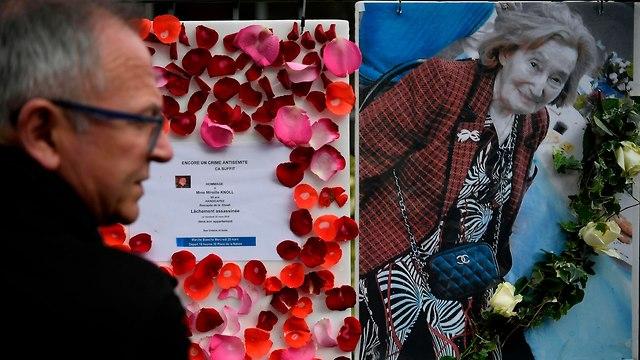 ניצולת השואה מיריי קנול נרצחה על רקע אנטישמי בפריז (צילום: AFP)