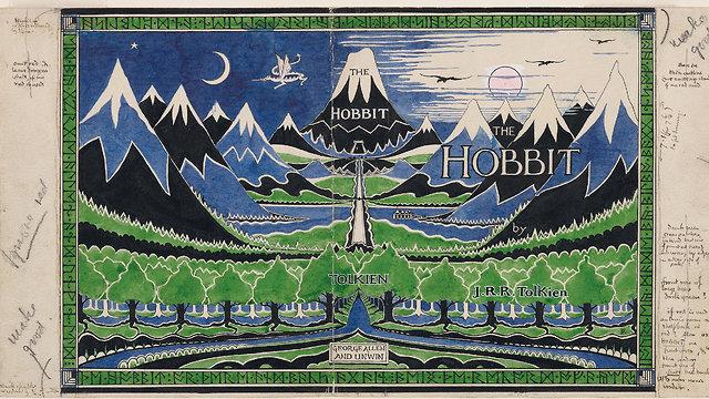Hobbit Dust Jacket (The Tolkien Estate 1937)