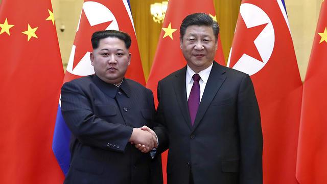 פגישת קים-שי (צילום: AP)