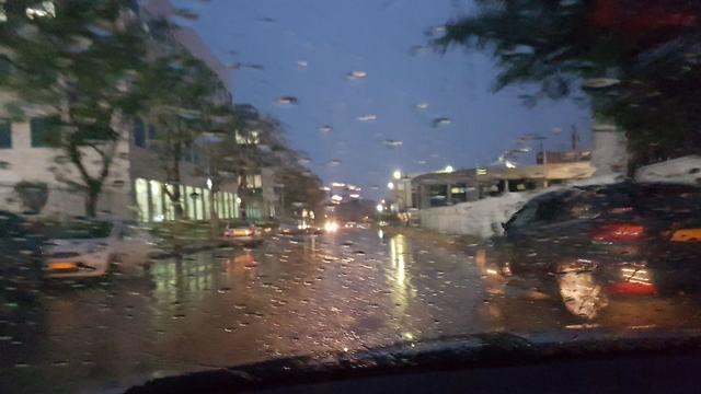 Дождь в Ришон ле-Ционе, 27 марта 2018 года
