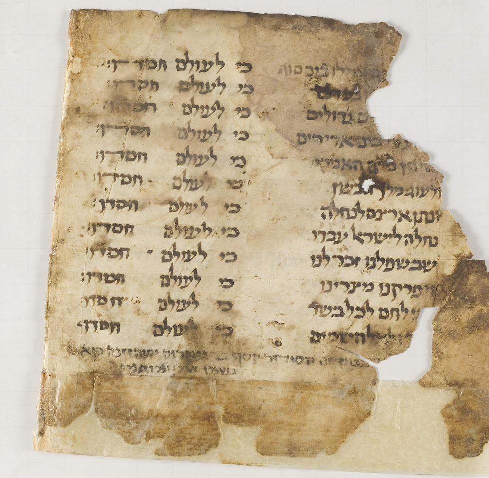 עמוד מההגדה שנמצאה בגניזה הקהירית (צילום: באדיבות בית המדרש לרבנים בניו יורק)