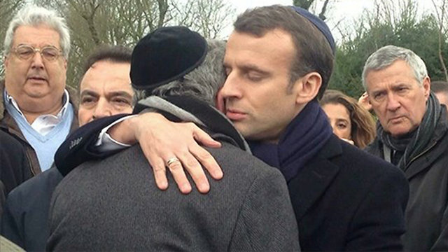 Macron attends funeral of slain Holocaust survivor