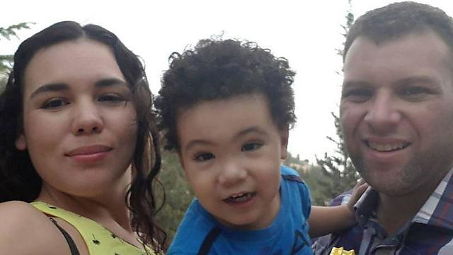 Natasha Benshimol, who made aliyah from Venezuela, with her family
