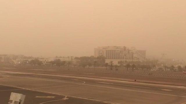 Туман в Эйлате, 29 марта 2018 года. Фото: пресс-служба Управления аэропортов