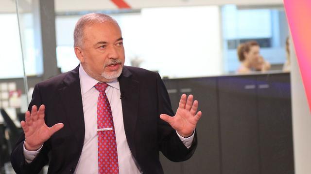 Defense Minister Lieberman (Photo: Avi Mualem)
