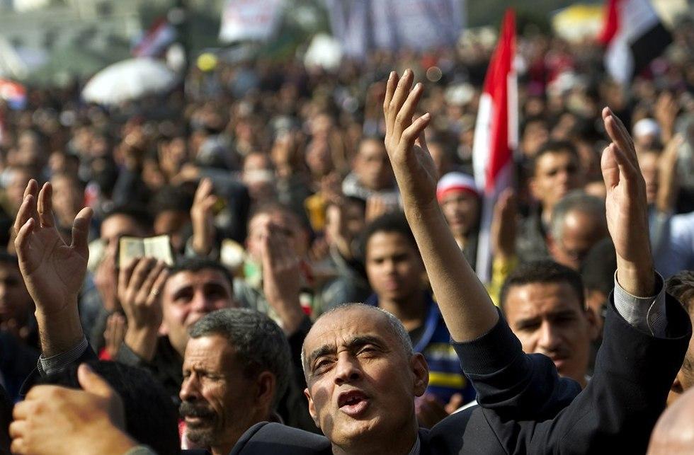 הפגנת המיליון בכיכר תחריר, 2011 (צילום: AFP)