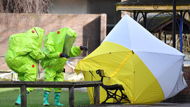 The poisoning—allegedly by Russia—of spy Sergei Skripal was part of the reappearance of chemical weapons use, according to May (Photo: AFP)