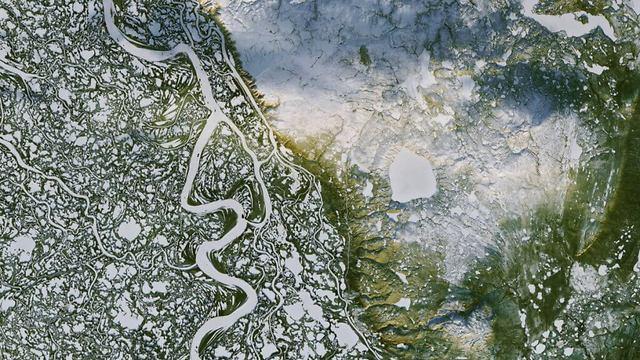 אדמת הפרמפרוסט  (צילום: NASA)