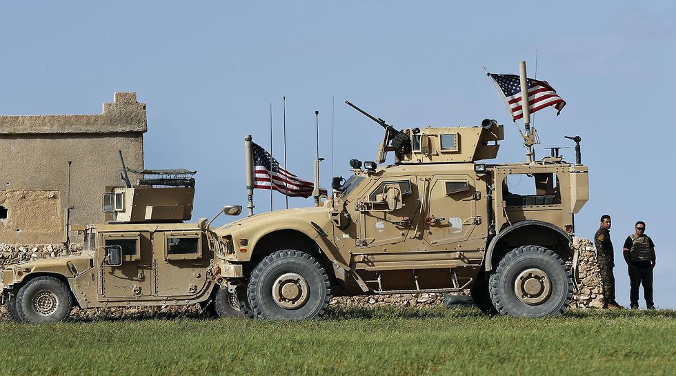 חיילים אמריקאים בסוריה (צילום: AP)