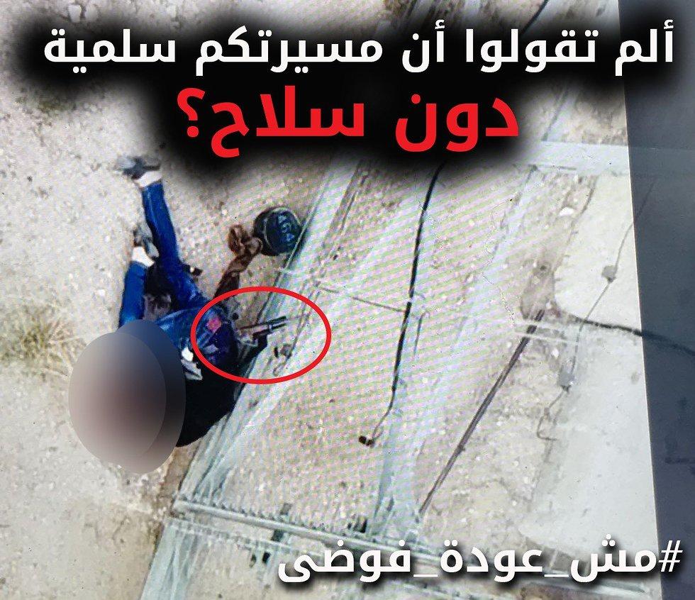 מפגין פלסטיני עם נשק  (צילום: דובר צה