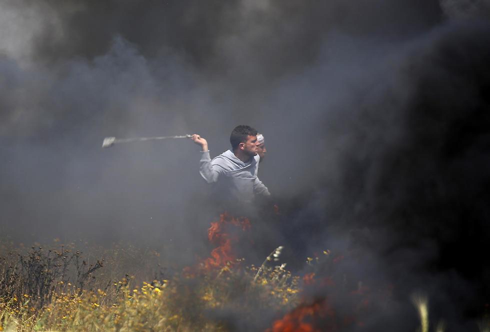 Беспорядки на границе сектора Газы, 30 марта 2018 года. Фото: AP