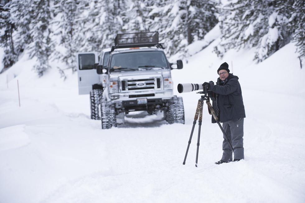 שלמה וולדלמן בשלג ביילוסטון (צילום: מיכה אורבך)