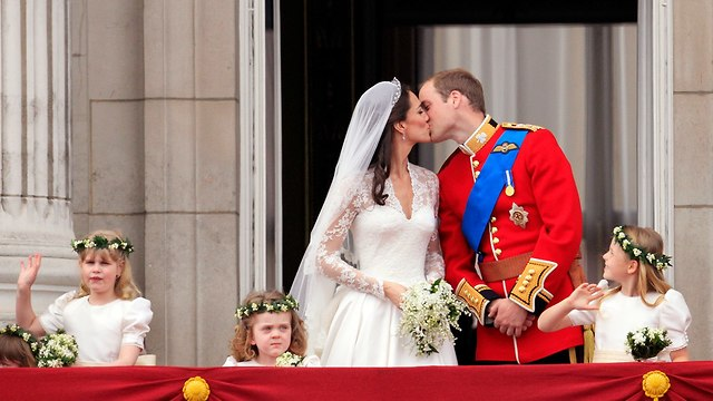 חתונה של הנסיך וויליאם וקייט מידלטון (צילום: AP)